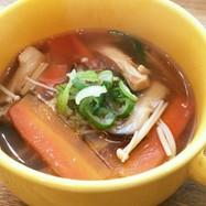 簡単♡醤油麹と生姜のきのこスープ♡