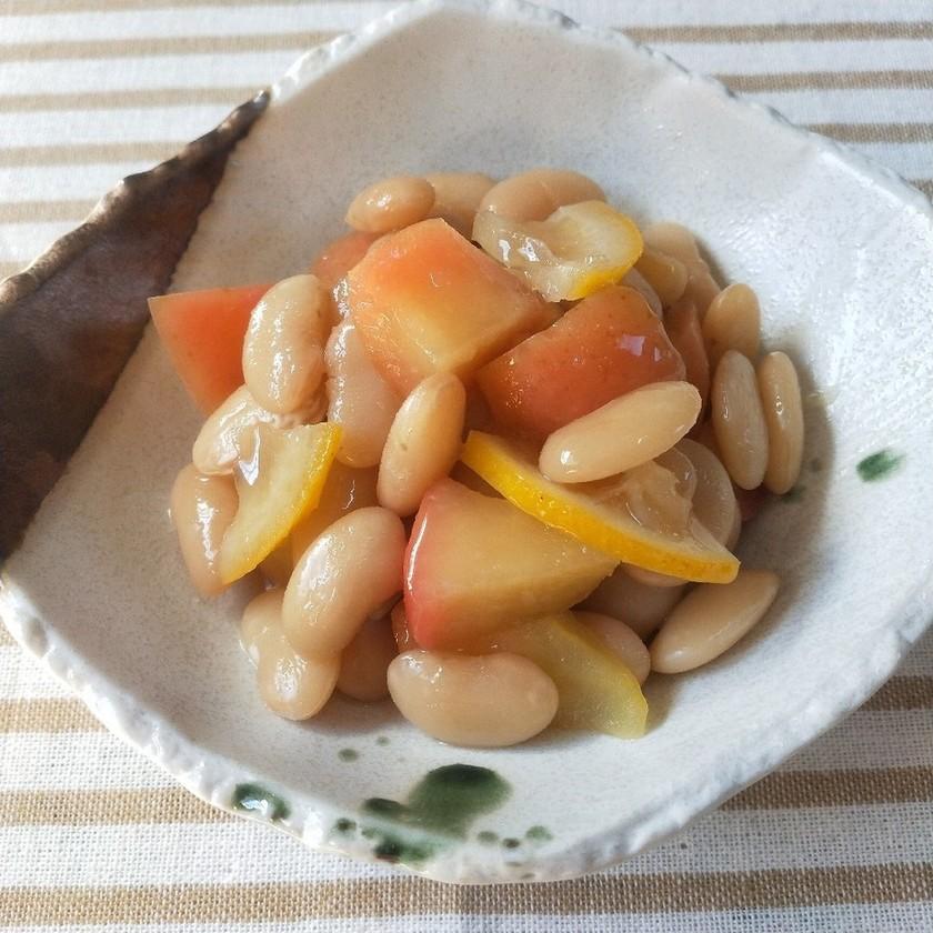 白いんげん豆とりんごのはちみつレモン煮