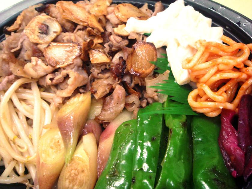 豚焼きしゃぶと焼き野菜のプレート