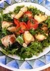 わさび菜とたこのバルサミコ梅マリネ