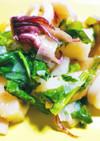 イカと山芋となばなの春の香炒め煮