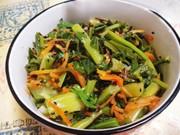 小松菜と人参の塩昆布ナムル(簡単)の写真