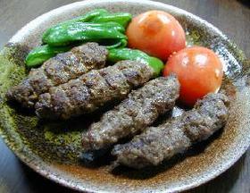 トルコ料理・シシケバブとアダナケバブ__Turkish Kebab/Spicy or Spicy and Hot Spit-roasted Beef