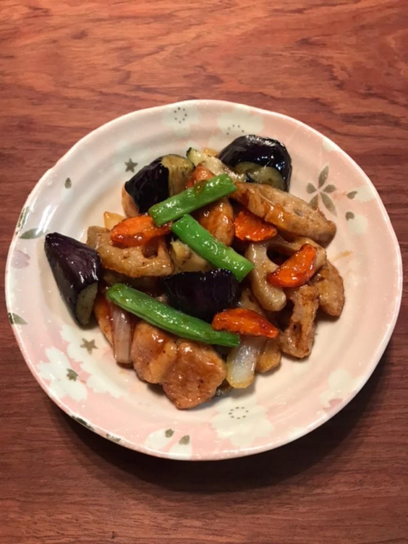 鶏と野菜の黒酢あん