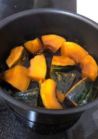レンチンで簡単にカット♪かぼちゃの煮物