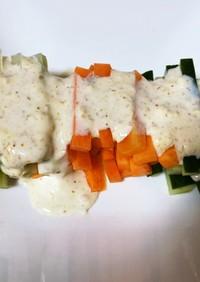 野菜の味を楽しむ野菜スティックサラダ