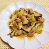 鶏もも肉と舞茸のオイスターソース炒め