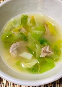 砂肝と野菜のおつまみスープ