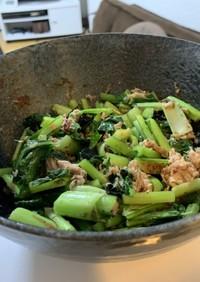 チンするだけ!小松菜とツナの和え物