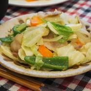 『春キャベツと豚肉の味噌バター炒め』