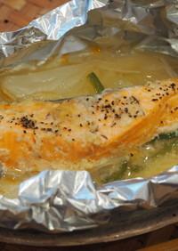 『味噌鮭のホイル焼き』
