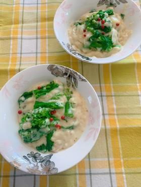 菜の花のクリーム煮
