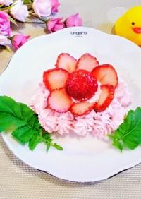 お花に見える苺の飾り切り♪