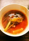 蕪の即席キムチのスープ