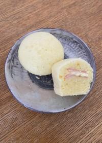 フライパンとHMで簡単ハムマヨ蒸しパン