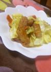 野菜天のカレー風味マヨソテー