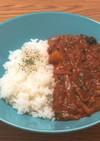 鯖と牛豚の旨味!トマトのサバ缶挽肉カレー