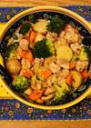 鶏肉と春野菜のマヨソテー☆アヒージョ風