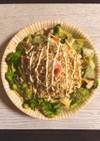 ごま味インスタント麺で無限ポリポリサラダ