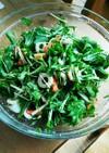 超簡単❤水菜と竹輪あるものでサラダ✨