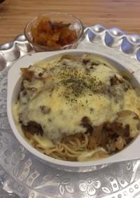 サッポロ一番醤油ラーメン〜焼きカレー麺〜