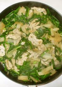 生姜焼きのタレで野菜炒め♪簡単大根にら