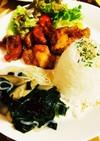 フライパンで鶏モモ肉甘酢揚げとゴボウ白滝