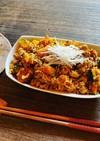 コロコロかぼちゃのごま醤油和え麺