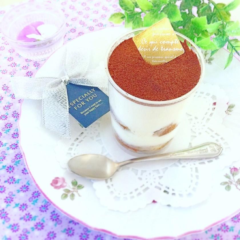 卵なし☆簡単ティラミス♬(抹茶も)