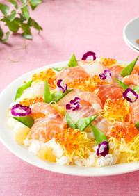ひなまつりやお祝いに❁フルーツちらし寿司