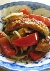 うなぎと野菜の炒め物