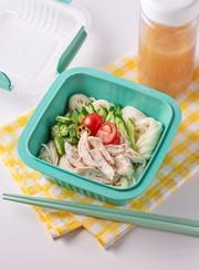 麺弁当 サラダ冷や汁素麺弁当の写真