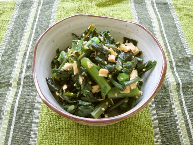 春菊 レシピ ツナ
