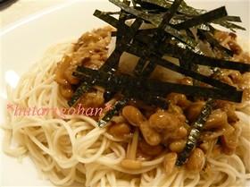 えのきと納豆のとろりん素麺