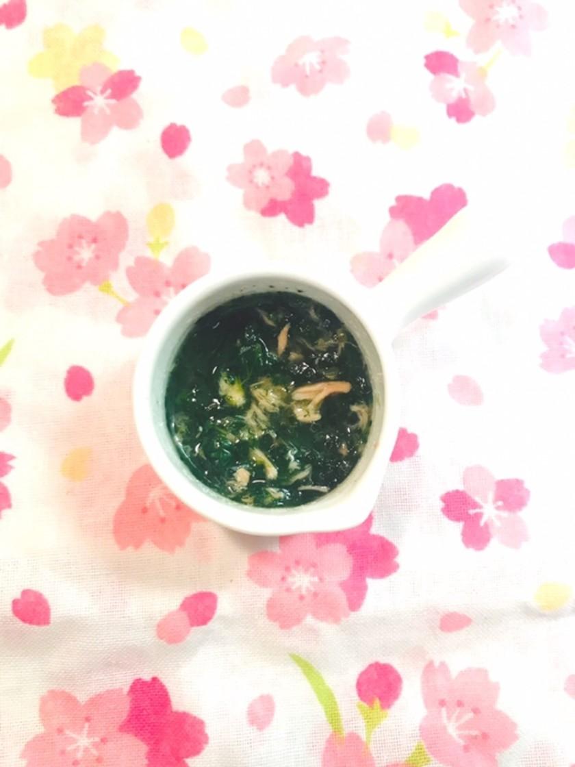 離乳食中期✩.*ツナとほうれん草のスープ