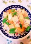 やりいかと厚揚げと野菜の炒め物