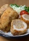 竹輪の肉詰めフライ(カレー風味)♡