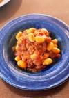 サバ缶と大豆のトマト煮込み