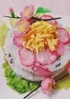 ひな祭りにラディッシュのケーキ寿司・
