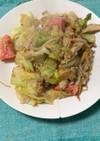 キャベツとキノコの明太マヨ炒め