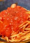 トマト缶で簡単パスタ