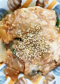 レンジアップルソースひき肉のせドーム蒸し