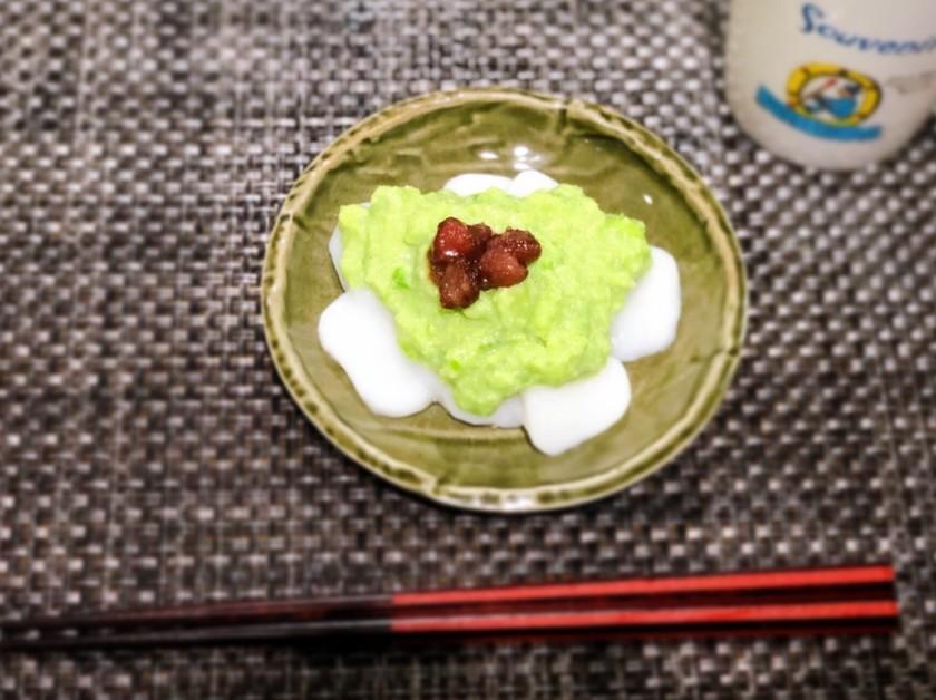 冷凍枝豆で簡単スイーツ♩ずんだ白玉もち