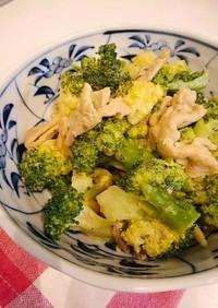 豚肉とブロッコリーのカレーマヨ炒め
