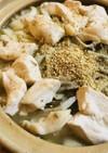 鶏肉と白菜の赤味噌&胡麻うどん鍋