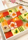 詰めて並べて♡簡単♡艶やかモザイク寿司