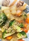 全てレンジ根菜春雨の回鍋肉味温野菜サラダ