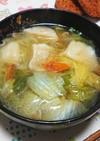 簡単鍋で煮るだけ!水餃子の鶏ガラスープ
