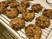 ヴィーガンチョコチップオーツクッキーの写真