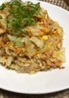 白菜と鶏肉のチャーハン